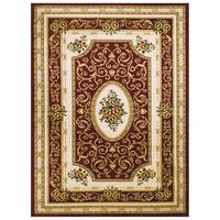 LYKE Home McKayla Red Oriental Area Rug