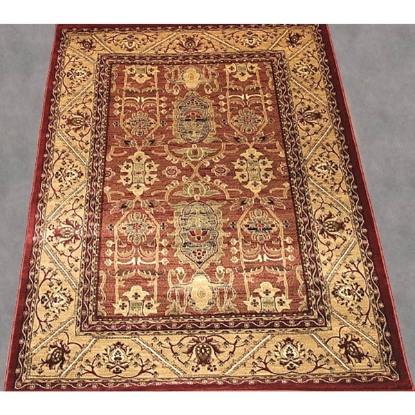 LYKE Home McKayla Red Oriental Area Rug - 8' x 11'