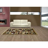 LYKE Home Audrey Cream Geometric Area Rug