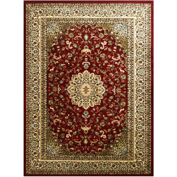 LYKE Home McKayla Red Area Rug (5' x 8')
