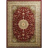 LYKE Home McKayla Red Area Rug