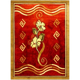 LYKE Home Isabela Red Area Rug (4' x 6')