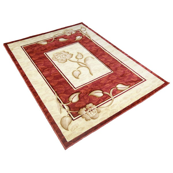 Lyke Home Rosalie Red Area Rug 4 X 6 Free Shipping