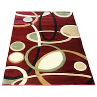 LYKE Home Rosalie Red Geometric Area Rug - 7'10 x 10'2