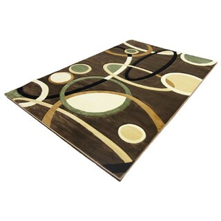 LYKE Home Rosa Brown Area Rug (4' x 6')