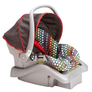 Cosco Light N Comfy DX Infant Car Seat in Rainbow Dots