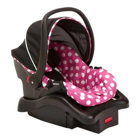 Disney Light 'N Comfy Luxe Infant Car Seat in Minnie Dot