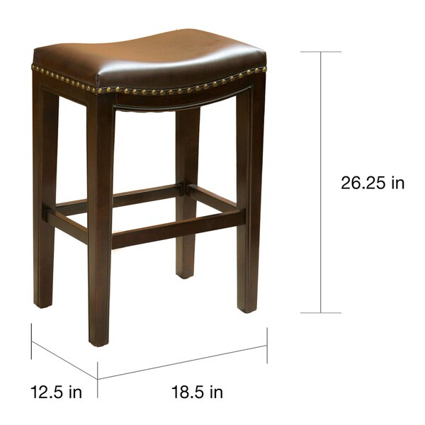 Avondale Brown Bonded Leather Counter Stool (Set of 2) by Christopher Knight Home