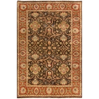 Hand-Knotted Lena Floral New Zealand Wool Rug (3'9 x 5'9)