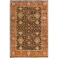 """Hand-Knotted Lena Floral New Zealand Wool Area Rug (3'9 x 5'9) - 3'9"""" x 5'9"""""""