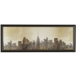New York Landscape Wrapped Giclee Canvas Framed Wall Art