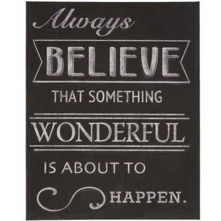 'Always Believe' Inspirational Wrapped Giclee Canvas Wall Art
