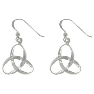 Carolina Glamour Collection Sterling Silver Celtic Trinity Knot Dangle Earrings