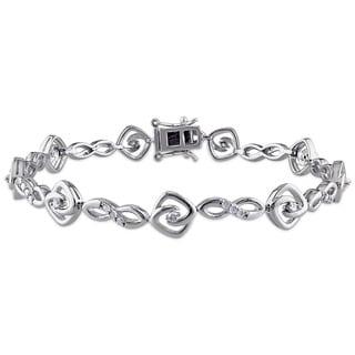 Miadora Sterling Silver 1/2ct TDW Diamond Infinity Bracelet (J-K, I2-I3)
