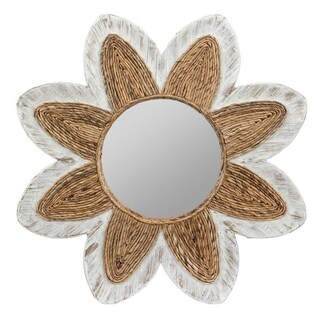 Shila White Washed Bohemian Wall Mirror