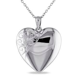 Miadora Sterling Silver Heart Quadruple Locket Necklace|https://ak1.ostkcdn.com/images/products/9916325/P17073847.jpg?impolicy=medium