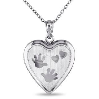 Miadora Sterling Silver Heart Locket Necklace|https://ak1.ostkcdn.com/images/products/9916327/P17073849.jpg?impolicy=medium