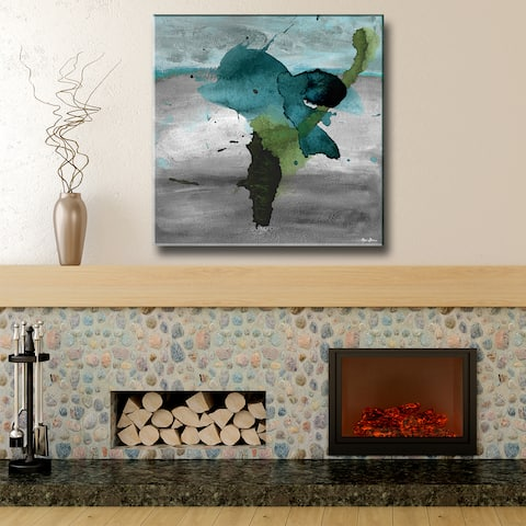 Inkd XV' Abstract Wrapped Canvas Wall Art