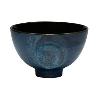Red Vanilla Organic Blue 2-piece Coupe Salad Bowl Set