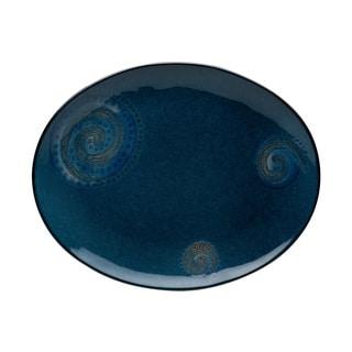 Red Vanilla Organic Blue Oval Platter