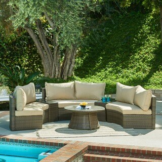 The Hom Heritage 6 Piece Brown Wicker Patio Set Free Shipping Today 17073920