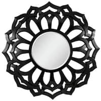Forest Beveled Round Wall Mirror