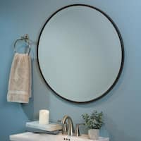 Ainsley Beveled Round Wall Mirror