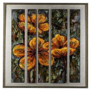 Cooper Classics Fire Flowers Canvas Wall Art