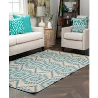 Kosas Home Antonia Indoor/ Outdoor Recycled Plastic Kilim Rug - 8'x10'