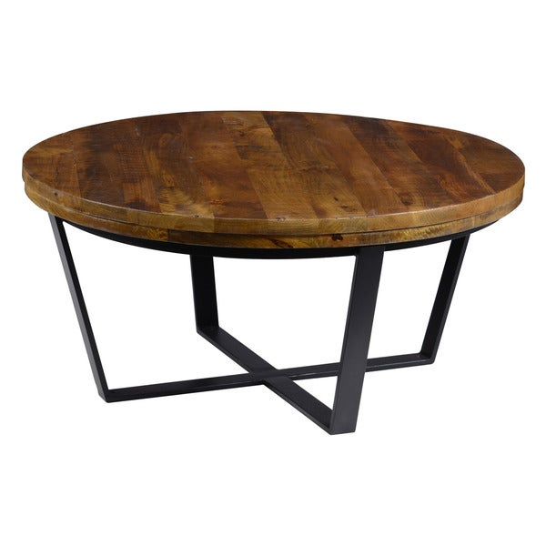 Kosas Home Kinda Reclaimed Wood Round Coffee Table