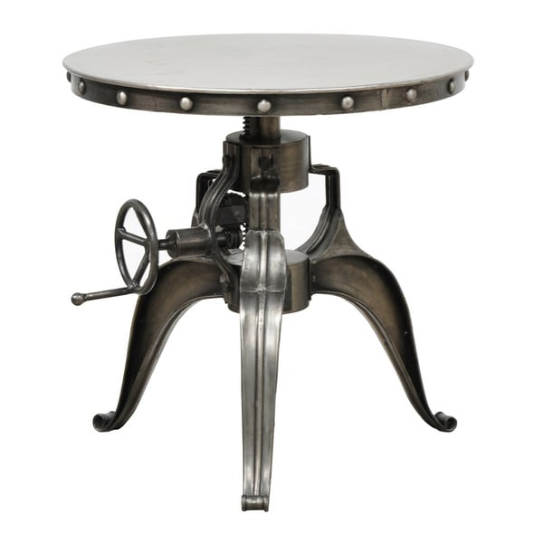 Kuute iron 22 inch crank table by kosas home free for Homegoods industrial furniture