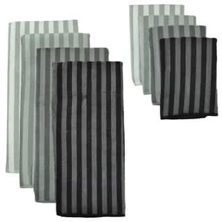 Grey Stripe Microfiber Towel and Cloth Set https://ak1.ostkcdn.com/images/products/9916480/P17073993.jpg?impolicy=medium