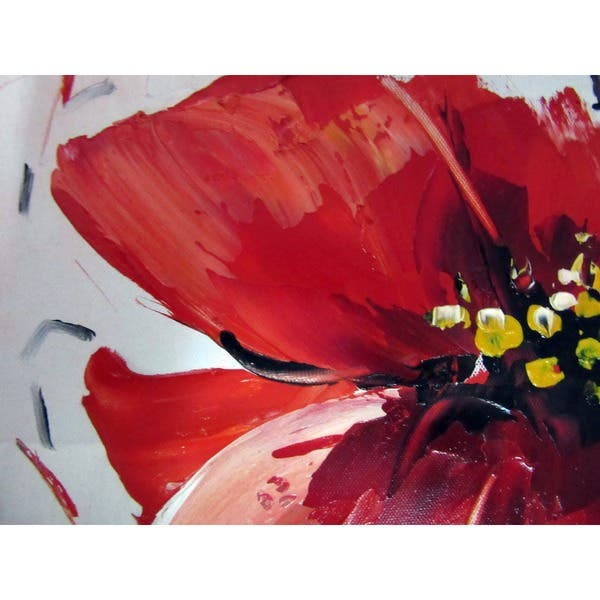 Shop Silver Orchid Hand Painted Oil Red Flowers Gallery