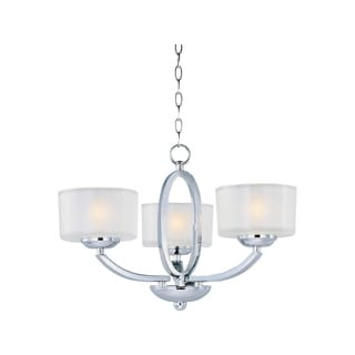 Maxim Elle Chrome 3-light Semi-flush Mount