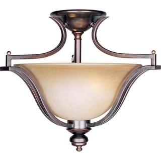 Maxim Madera Bronze 3-light Semi-flush Mount