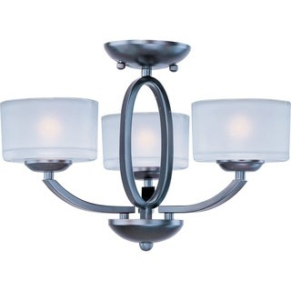 Maxim Elle Bronze 3-light Semi-flush Mount