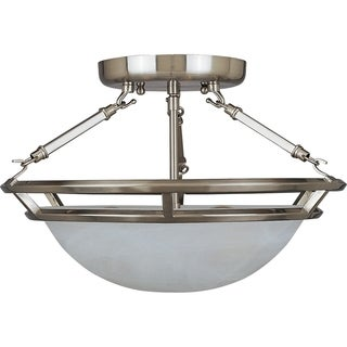 Maxim Stratus Pewter Iron 3-light Semi-flush Mount