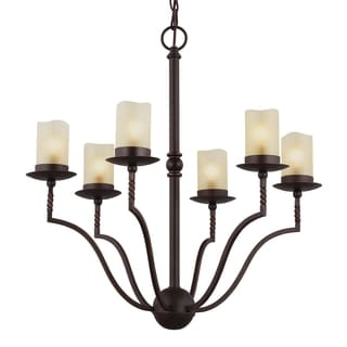 Trempealeau 6-light Roman Bronze Chandelier