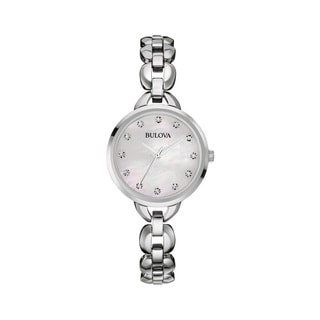 Bulova Womens 96L204 Stainless Steel and Crystal Watch