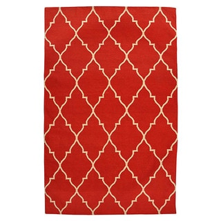 Kosas Home Kosas Edison Red Recycled Plastic Kilim Rug (8' x 10')