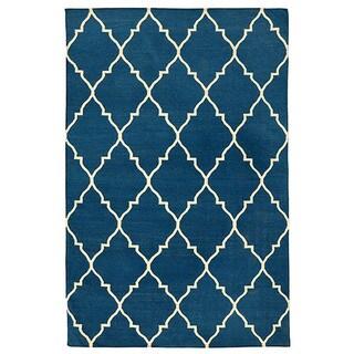 Kosas Home Kosas Edison Blue Recycled Plastic Kilim Rug (8' x 10')