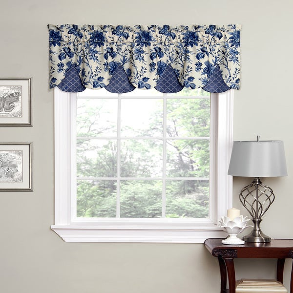 Waverly Felicite Window Peek A Boo Indigo Framework Trim