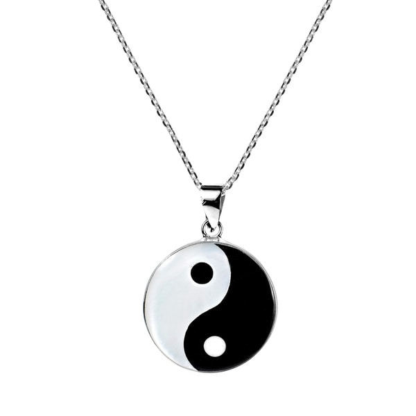 Handmade Yin Yang Balance of Life .925 Sterling Silver Necklace (Thailand)