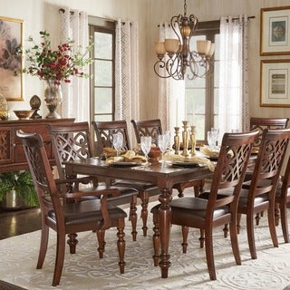 TRIBECCA HOME Emma Catherine Cherry Extending Dining Set