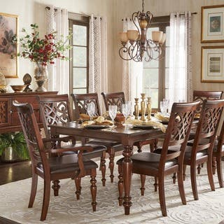 antique dining room sets. Emma Catherine Cherry Extending Dining Set by iNSPIRE Q Classic Vintage Room Sets For Less  Overstock com