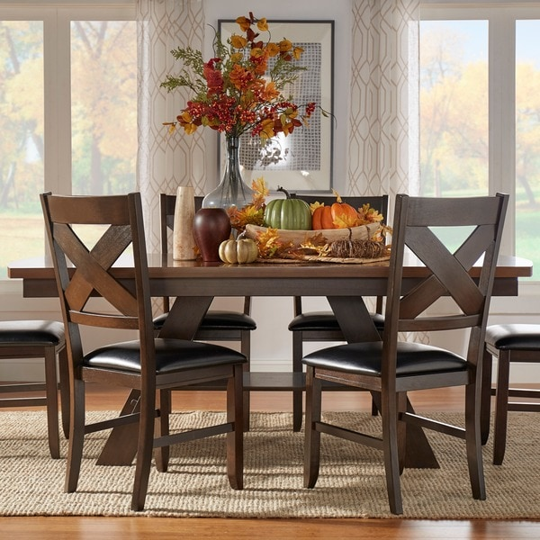 Shop Acadia Dark Brown With Uv Coated Light Brown Table