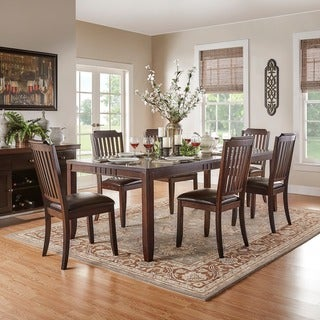 Nathaniel Traditional Cherry 9-piece Extending Dining Set