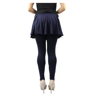 Le Nom Women's One Size Fits Most Pleated Mini Skirt Leggings