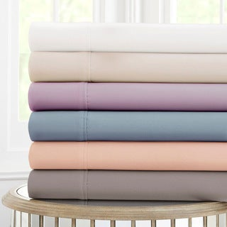 Amrapur Overseas 600 Thread Count 100-percent Cotton 4-piece Sheet Set