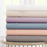 Amraupur Overseas 600 Thread Count 100-percent Cotton 4-piece Sheet Set